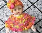 Huggums Baby Doll Clothes, Doll Cape and Hat, Crochet Doll Clothes,  Doll Cape, Fits  Huggums and 12 inch Dolls,  Crochet Doll Set