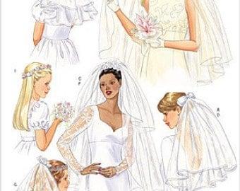 WEDDING VEIL Sewing Pattern - Bride & Flower Girl Veils Headpiece Blusher Wreath 5972