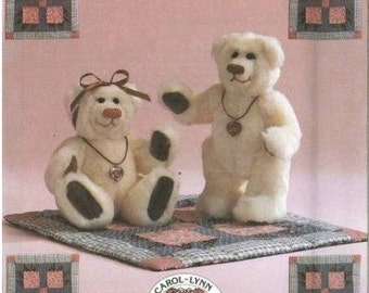 JOINTED BEAR Sewing Quilting Pattern - Teddy Bears Claw Quilt OOP