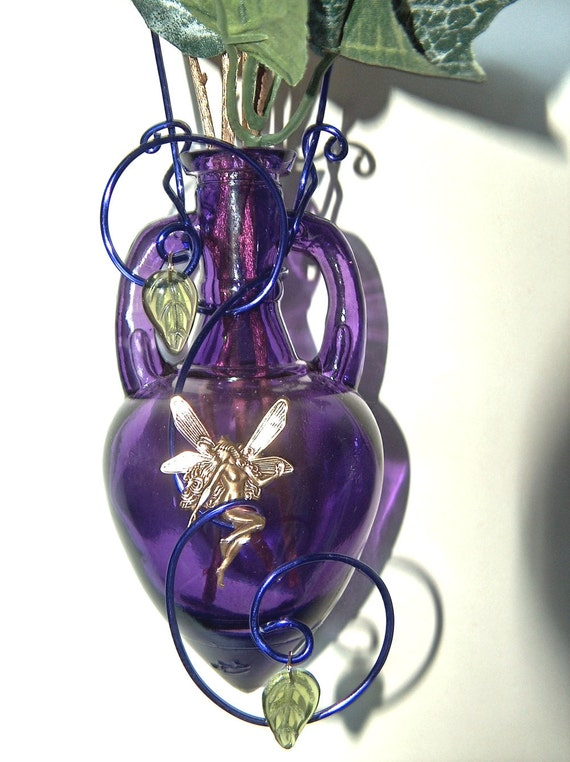 Glass Amphora Hanging Rooting Vase Bud Vase Fairy Or By Vaseplace