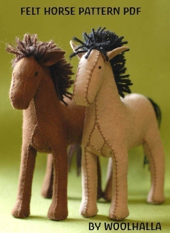 Felt Horse Pattern PDF -Instructions New and Improved