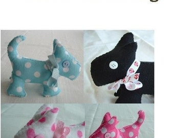 Scottie Dog - Fun Felt Sewing Pattern  - PDF Format