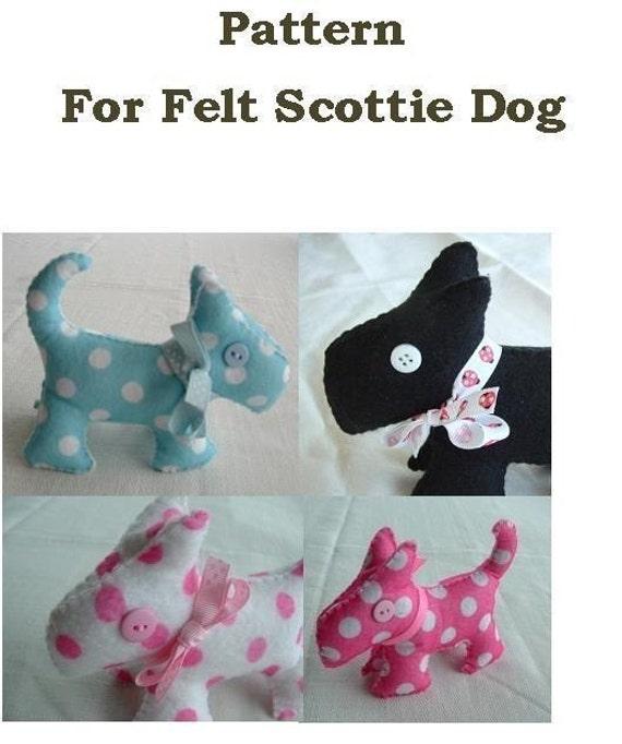 Scottie Dog - Fun Felt Sewing Pattern  - PDF Format