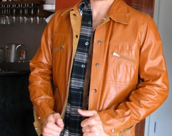 Reversible Leather Jacket - One Side Suede, One Side Smooth - Men's 42 in. Chest