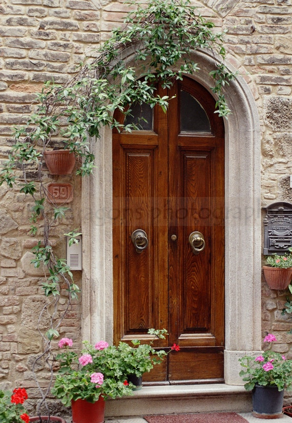 Matted photography italian art door print european for European exterior doors