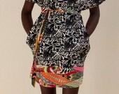 Paradise Twiggy Graffiti Chic Tribal Dress