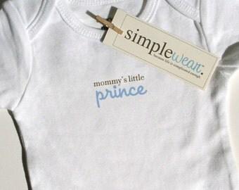 mommy's little prince baby bodysuit