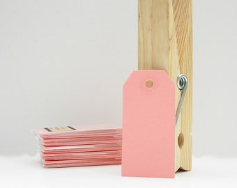 10 Small Gift Tags Shipping Tags Parcel Tags - Pink Tags