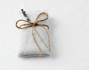 Nautical Lavender Bags, Grey and White Striped Scented Drawer Sachets, Hostess Gift
