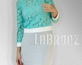 Tops Blouses Blouse Turquoise Lace Top