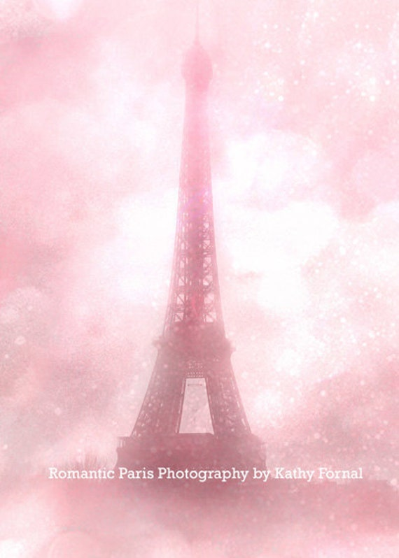 Pink Eiffel Tower Print, Shabby Chic Paris Decor, Paris Photography, Baby Girl Nursery Decor, Pink Eiffel Tower Photo, Eiffel Tower Prints