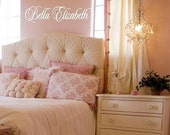 Girl Name Wall Decal - Script Elegent Custom Name Decal for Teen Girl or Baby Nursery ND0001