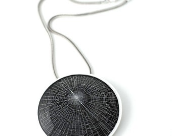Dollybird Preserved Spider Web Pendant 3 inch