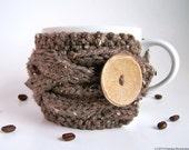 Rustic Winter Decor, Coffee Mug Cozy, Coffee Cup Sleeve, Tea Cozy, Coffee Cup Cozy, Coffee Sleeve, Cup Warmer, Knit Coffee Cozy, Tea Cosy
