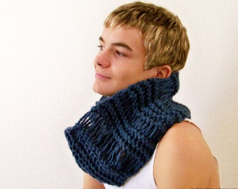 Mens Infinity Scarf Knit Mens Scarf Mens Cowl Scarf Mens Knitted Scarf Chunky Scarf Chunky Knit Scarf Chunky Knit Cowl Knit Cowl Scarf