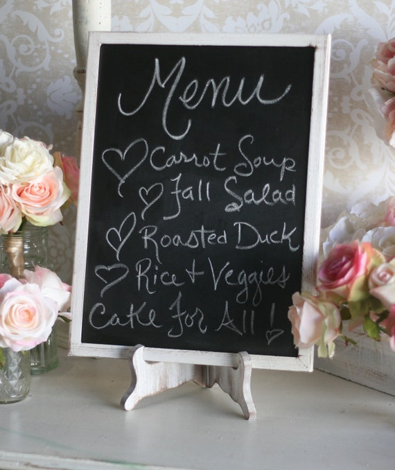Rustic Wedding Chalkboard and Easel Set Shabby Chic Decor Barn Wedding LARGE 12x16 (Item Number MHD20057)
