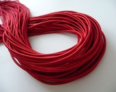 5Yards 2.80mm ..0.1094 inch thickness.. Satin Elastic in Red..For Stationary..Hair Accessories, Jewelry, Stationary