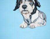 Custom Portrait - Pet Portrait - 8x10 inches hand painted in Gouache - Custom Dog Art - Pet Painting - Pet Lover Gift Idea