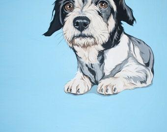 Custom Pet Portrait Painting - Hand Painted 8x10 Inch Portrait - Original Art from your Photograph -
