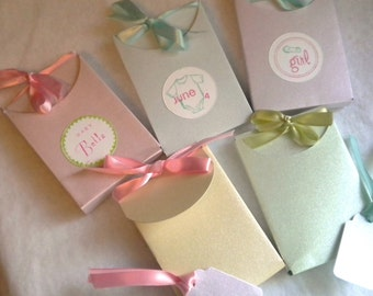 Gift  box in pearl pastels  - set of 10