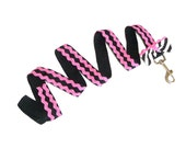 Dog Leash - Pink - Black - Rick Rack - Girly - Small Bow - Ooh La La - Frou Frou - Poodle - Hand Made - Valentines - UNIQUE - French - Paris