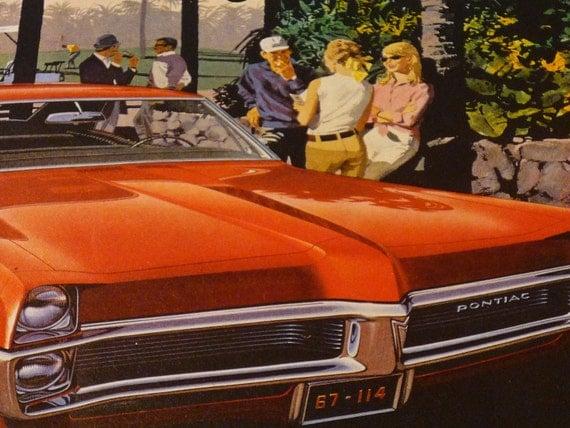 Vintage Advertisement  . .  Pontiac Catalina  . . Mad Men lifestyle . . Original 1960s ad