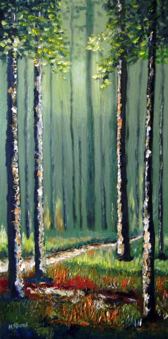 Follow The Trail - Original Nature Oil painting