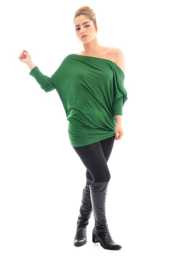 Women top/ ON SALE Maternity Top/ Oversized  top/ Green maternity top/ Plus size top/ Plus size clothing/ Long sleeve top
