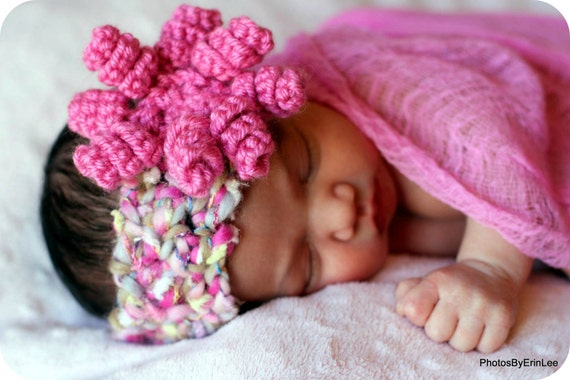 BABY Headband Crochet PATTERN with Curly-Q Flower