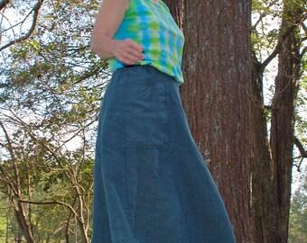 Hemp Skirt - full length with pockets