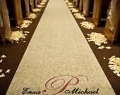 Wedding Aisle Runner - Personalized - Ivory