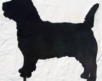 Cairn Terrier Metal Art Yard Ornament Outdoor Dog Decor