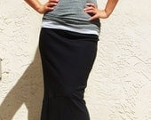 Mermaid Long Skirt- Black