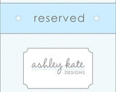Reserved Listing - Meghan
