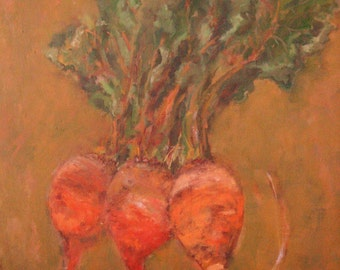 Orange Beets  Original Oil Painting   20 x 24