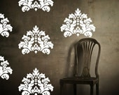 Wall Decal Damask Ornate 20th Century Textile Design