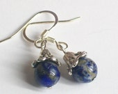Dainty Genuine Lapis Lazuli earrings