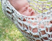 Crocheted Newborn Hammock Photo Prop - MADE TO ORDER