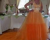 Upcycled Vintage Hand Hombre Dyed Boho Hippy Gypsy Gothic Wedding Dress