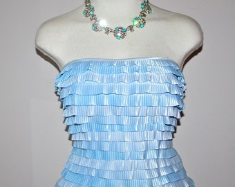 GIVENCHY COUTURE Vintage Bustier Corset Ruffled Layered Strapless Top - AUTHENTIC -