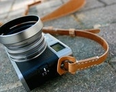 Natural Tan Premium Camera Neck Strap (RING) - made to order