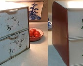 Metal vintage bread box restored to original beauty before shot click to see after shot