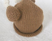 Hand Knit Turkey Hat, Knitted Newborn Baby Photo Prop, Winner Winner Turkey Dinner, 4-6 years, youth, adult