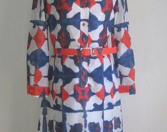 70s Vintage Op Art Scandinavian Mod dress