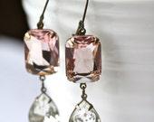 Custom Listing for Kristin, Blush Earrings