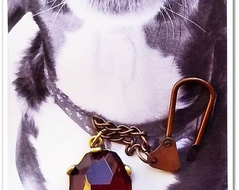 Pet Accessory, Pet Jewelry, Pet jewellery, Dog Jewelry, Big Boy Bling,  Barking Bling,  Woof Woof  Ruby collar Accessory