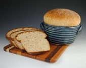Bread Baker, 12 RECIPES Included - Bread Baking Pot in Denim Blue Glaze - Featured in Midwest Living Magazine