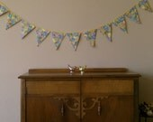 Fabric Bunting. with Darling Easter Eggs. Garland Banner Pennants Flags by InYourBones