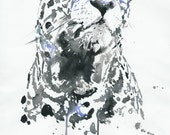 Leopard Print, Watercolor Leopard, Leopard Illustration, Leopard Painting,