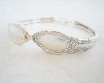 Free Engraving, Spoon Bracelet, Vintage Silverware Jewelry, Vintage Wedding, Bridesmaid Jewelry CHATELAINE 1957